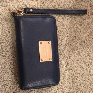 Dark blue Michael Kors wristlet wallet